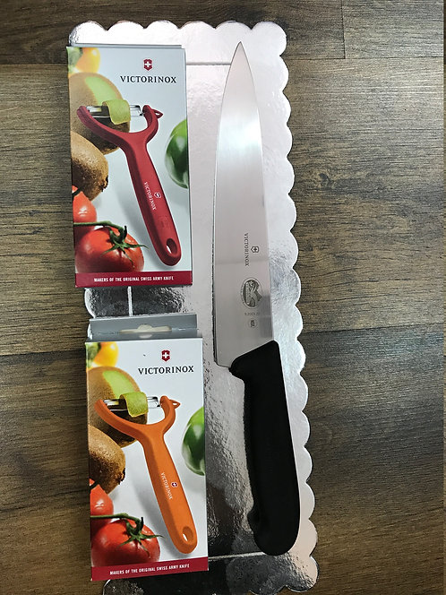 סט סכין שף וקולפנים מתנה לחג | Victorinox