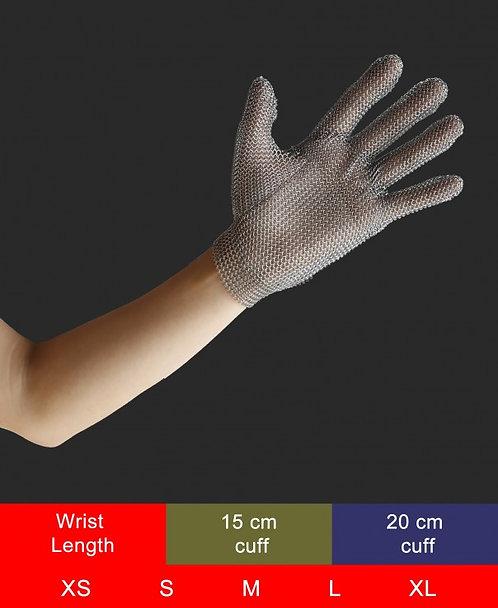 כפפת מגן נירוסטה, חמש אצבעות עשויה מפלדת אל-חלד