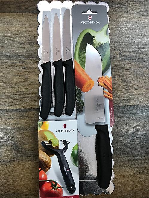 סט סכין שף שחור | Victorinox