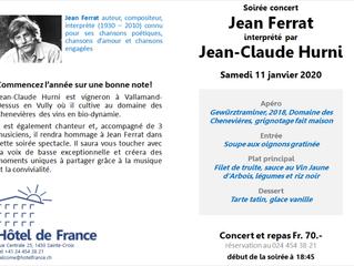 Soirée Concert Jean-Ferrat - Samedi 11 janvier 2020