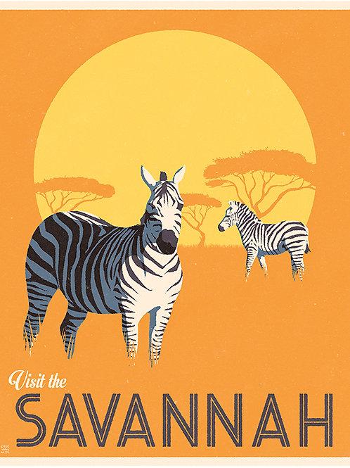 Zebras on the African Savannah