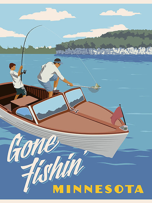 Gone Fishing Minnesota poster