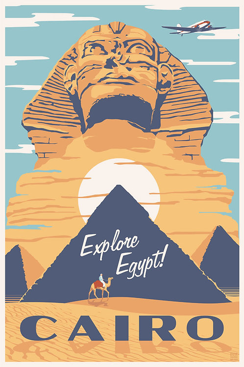 Cairo, Egypt travel poster