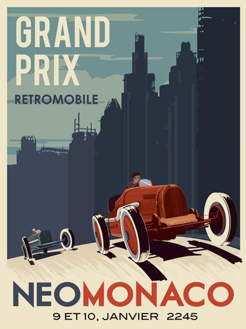 Retro Futuristic racing