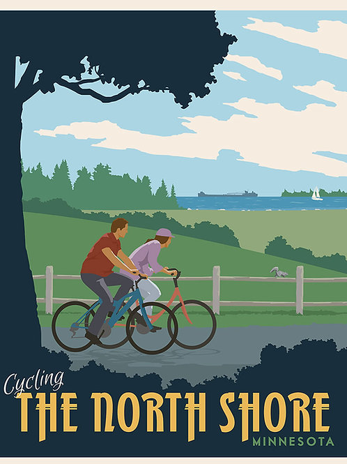 Cycling North Shore Minnesota poster