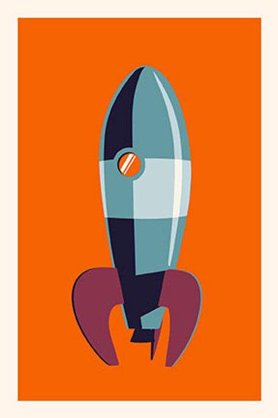 Rocket II mini print