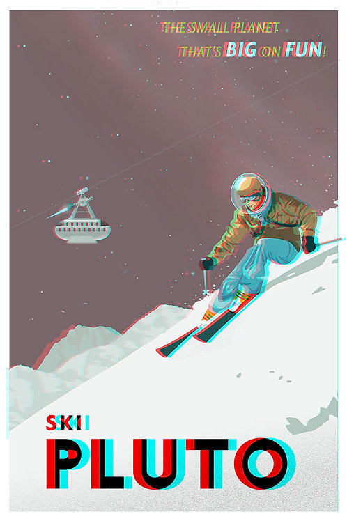 3D Space Travel: Ski Pluto