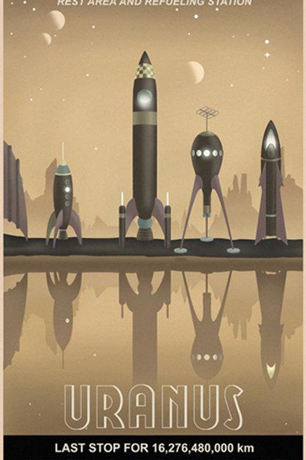 Uranus Travel Poster