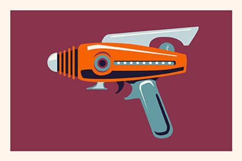 Raygun III mini print