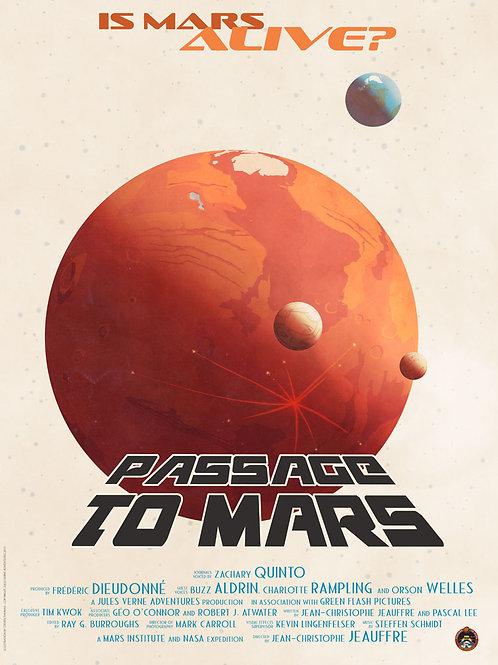 Passage to Mars documentary poster: Mars