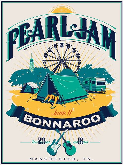 Pearl Jam Bonnaroo print