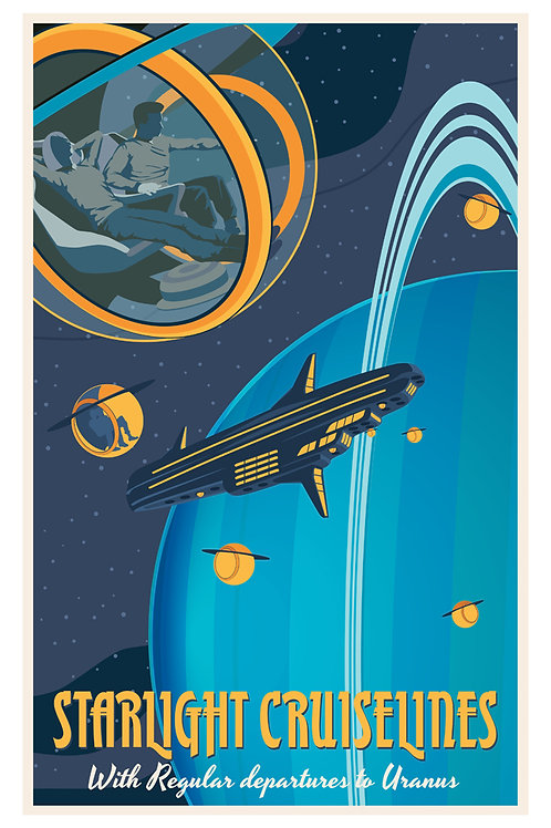 Uranus bubble Poster