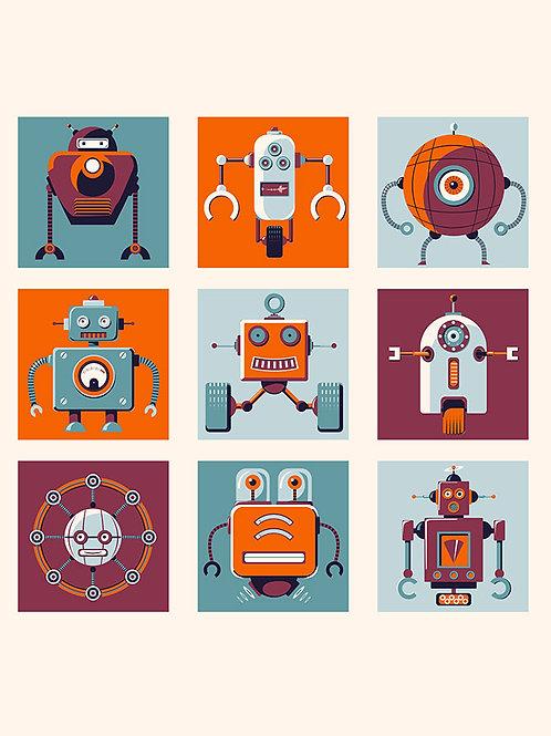 Retro Robots no text