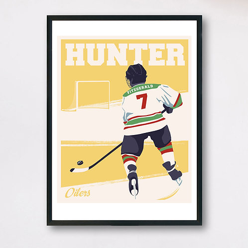 Personalized Left-Hand Hockey Player