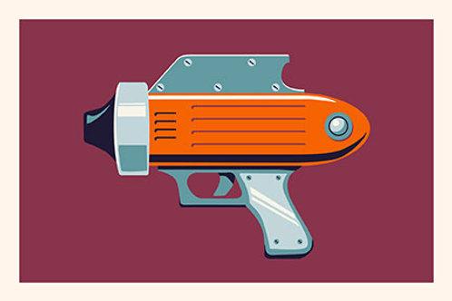 Raygun IV mini print
