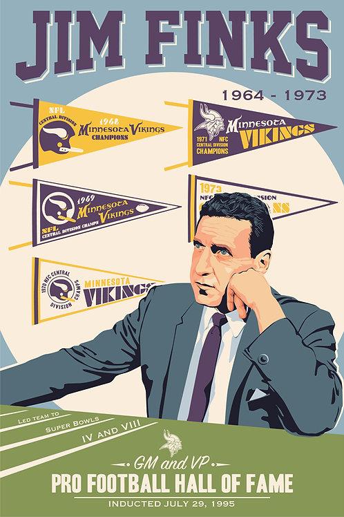 Minnesota Vikings HOF Jim Finks