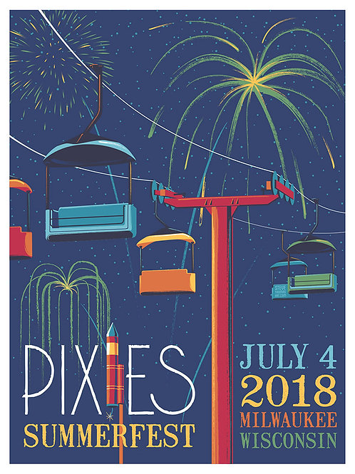 Pixies in Milwaukee, WI., July 4, 2018