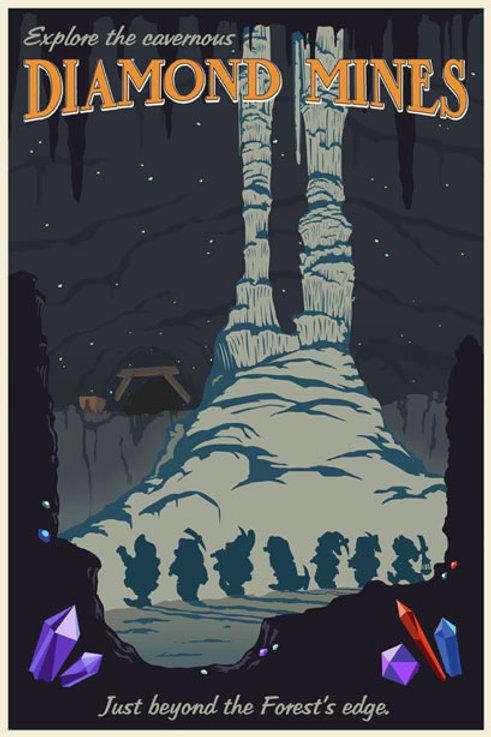 The Diamond Mines - Snow White