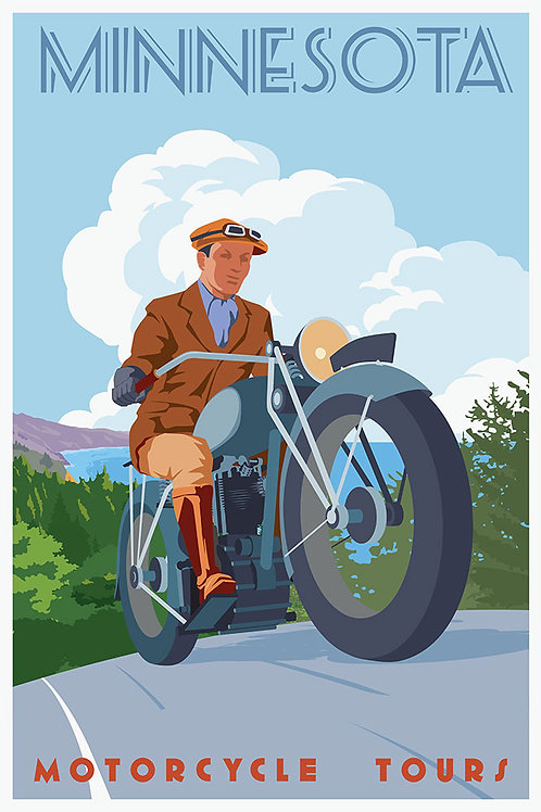 Vintage Motorcycle tour (man)