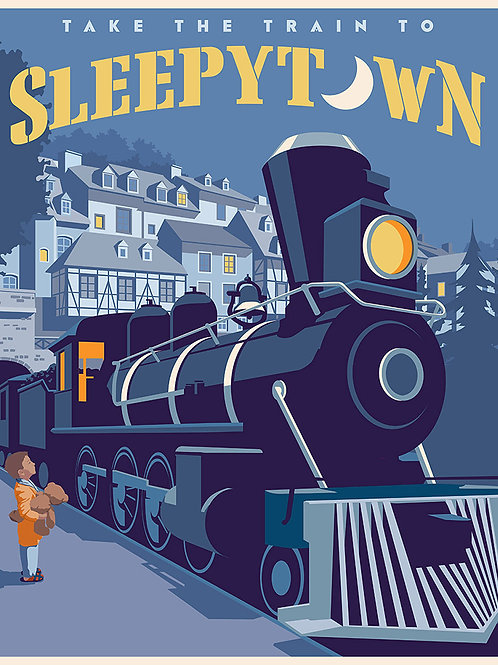 Sleepytown Train poster