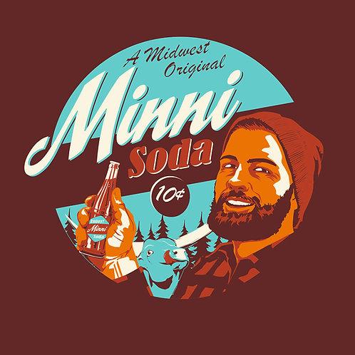 Minni Soda T-Shirt Maroon