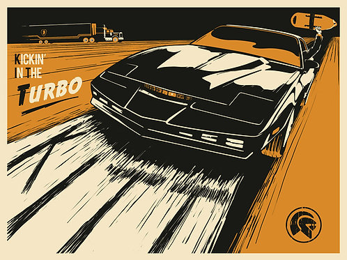 Kickin In The Turbo screenprint