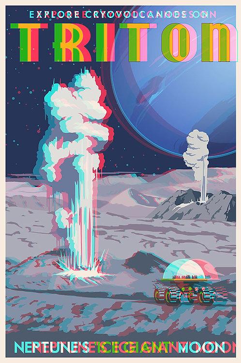 3D Space Travel: Triton Gysers