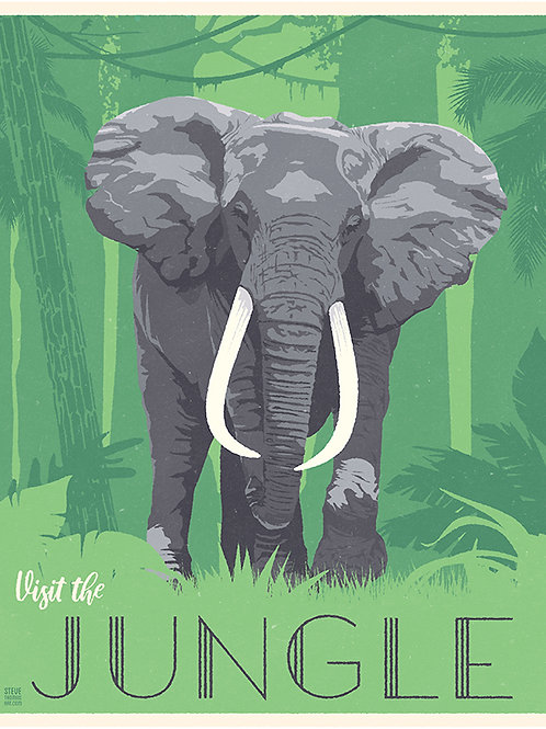 Jungle Elephant (green bottom)