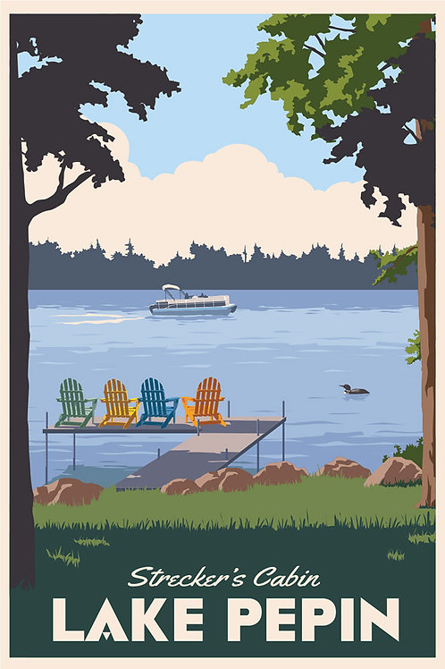 Personalized Lake poster