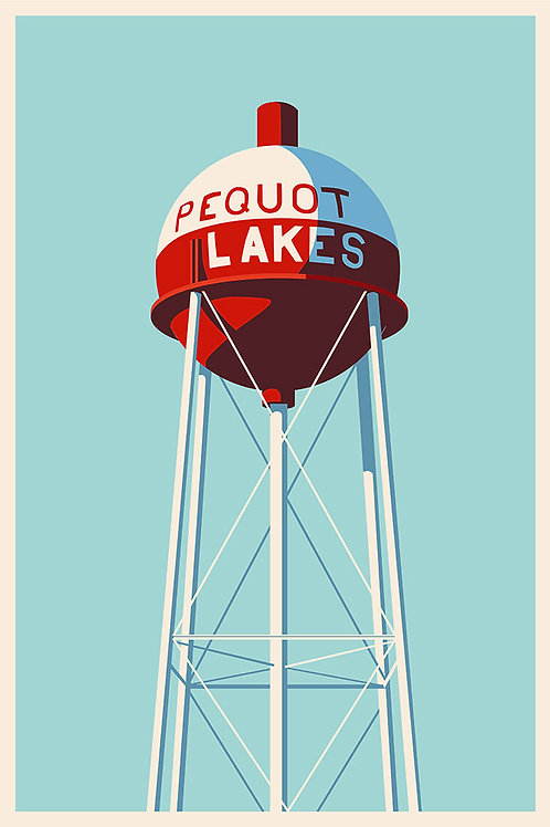 Pequot Lakes, MN water tower