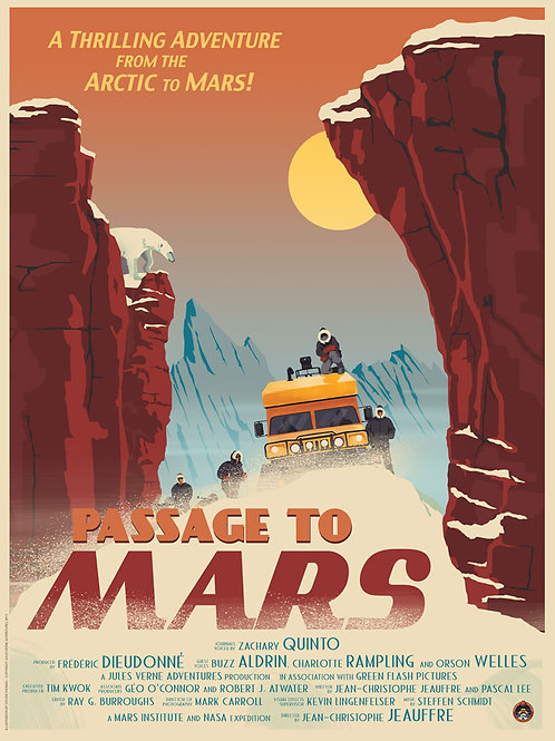 Passage to Mars documentary poster: Combo
