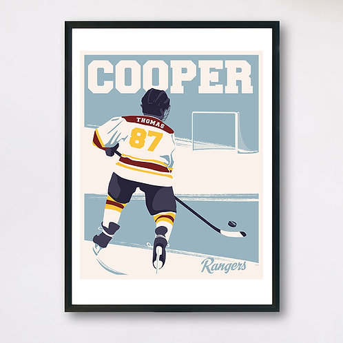 Personalized Right-Hand Hockey Player