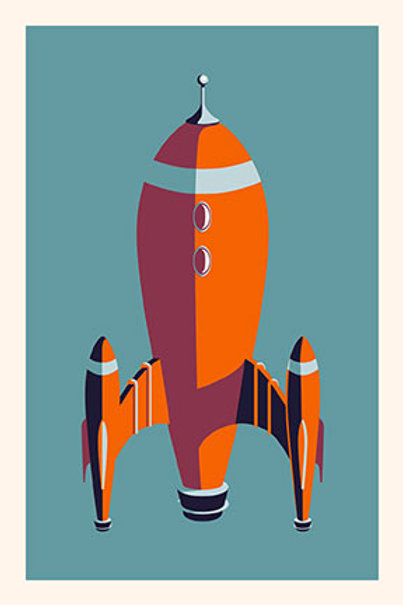 Rocket I mini print