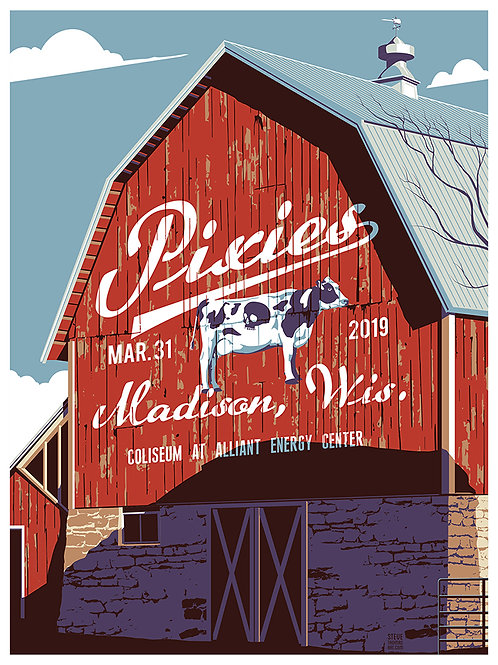 Pixies in Madison, WI., March 31, 2019 Regular Edition