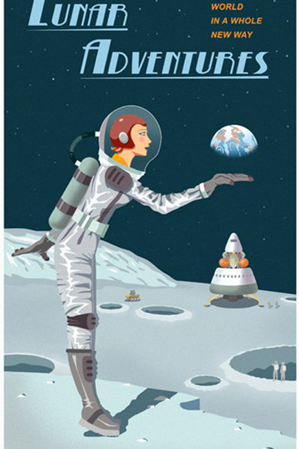 Moon Travel Poster