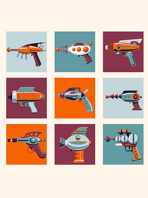 Retro Rayguns no text