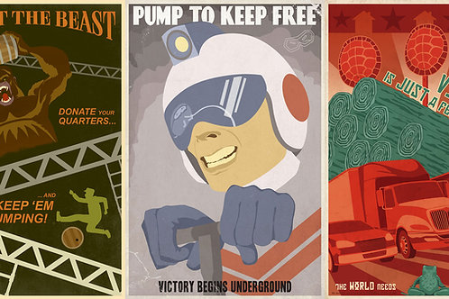 Arcade Propaganda set of 5 posters