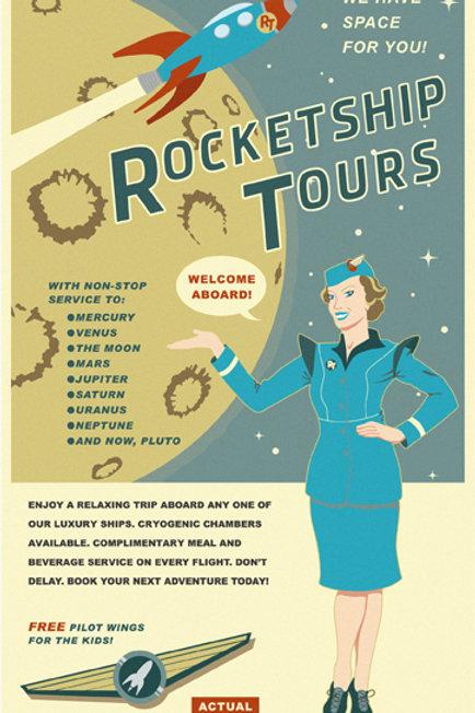 Rocket Tours Travel Poster