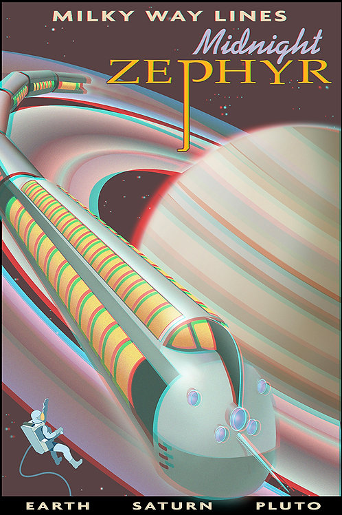 3D Space Travel: Saturn Train