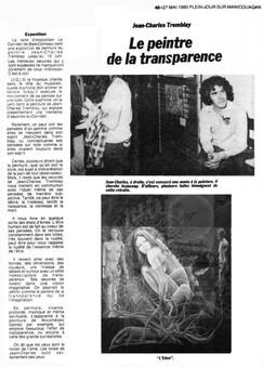 Le peintre de la transparence
