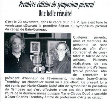 Présidence du Symposium Pictural