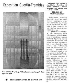 1er expo en 1973