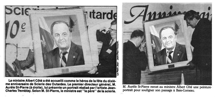 Portrait du ministre Albert Côté
