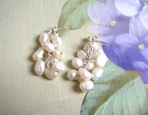 Ivory Freshwater pearl earrings