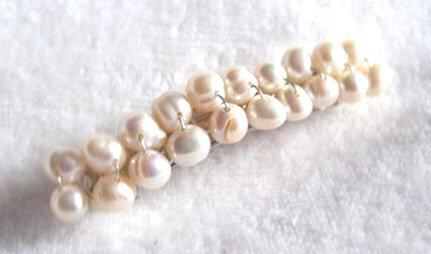 Freshwater pearl barrette clip