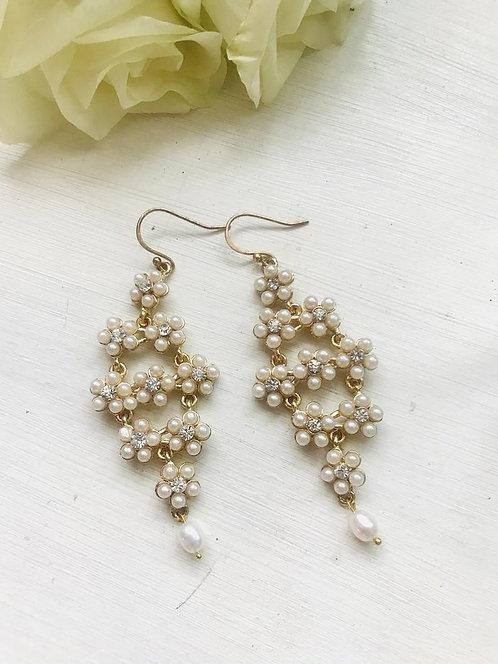 Boho style gold earrings