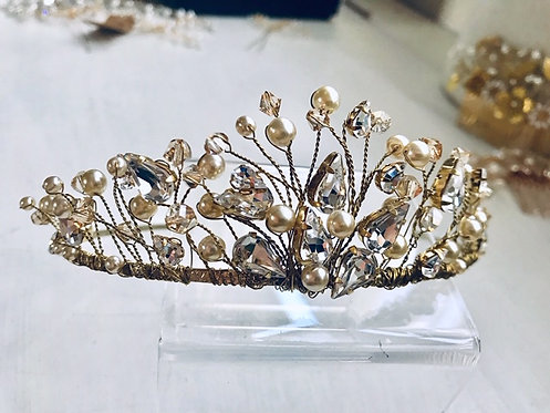 Gold Addison Tiara