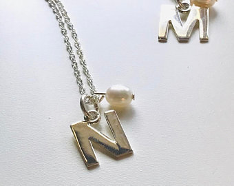 Initial personalised sterling silver necklace