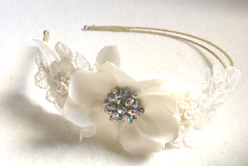 Flower side tiara