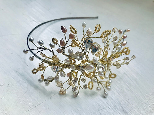 Golden Eva side headdress